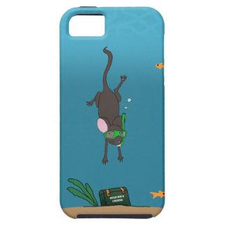 Ratón que bucea iPhone 5 Case-Mate carcasa