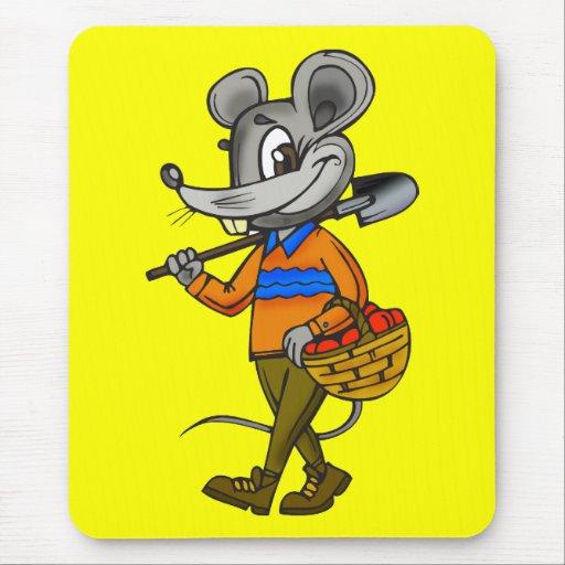 Ratón que cultiva un huerto alfombrillas de ratón