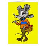 Ratón que cultiva un huerto felicitación