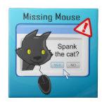 ¿Ratón que falta? ¡Azote el gato! Azulejo Ceramica