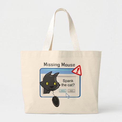 ¿Ratón que falta? ¡Azote el gato! Bolsas De Mano