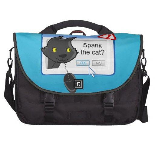 ¿Ratón que falta? ¡Azote el gato! Bolsas Para Portátil