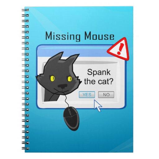 ¿Ratón que falta? ¡Azote el gato! Libreta