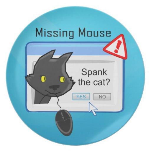 ¿Ratón que falta? ¡Azote el gato! Platos De Comidas