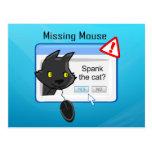 ¿Ratón que falta? ¡Azote el gato! Postal