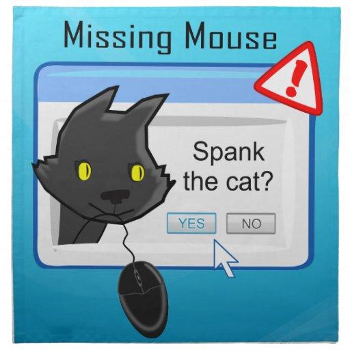 ¿Ratón que falta? ¡Azote el gato! Servilleta De Papel