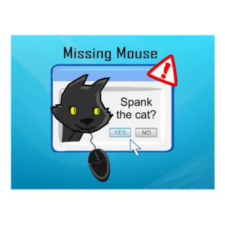 ¿Ratón que falta ¡Azote el gato Postales