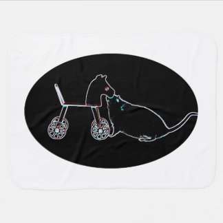 ratón que huele el animal lindo oscuro del caballo mantita para bebé