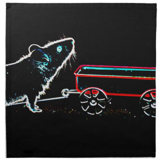 ratón que levanta para arriba por el animal lindo servilleta imprimida