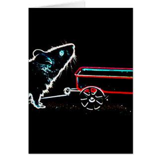 ratón que levanta para arriba por el animal lindo tarjeta de felicitación