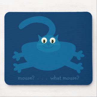 ¿Ratón ¿Qué ratón Gato azul de la grasa del dibu Tapete De Ratón
