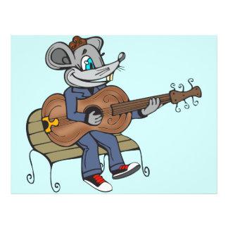 """Ratón que toca la guitarra folleto 8.5"""" x 11"""""""