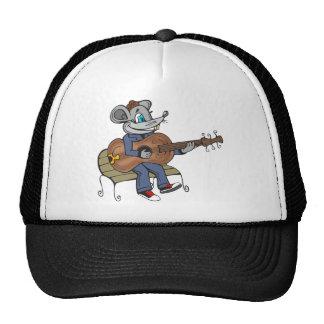 Ratón que toca la guitarra gorra