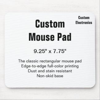 Ratón rectangular horizontal del cojín 9.25x7.75 tapete de raton