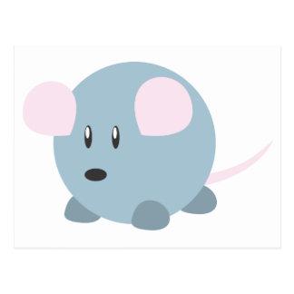 Ratón redondo lindo postales