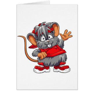 Ratón rojo - tarjeta