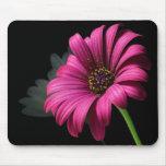 ratón rosado grande de la flor alfombrilla de ratones