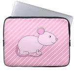 Ratón rosado lindo fundas computadoras