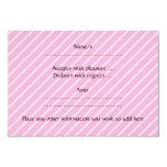 Ratón rosado lindo invitación 8,9 x 12,7 cm