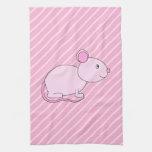Ratón rosado lindo toallas