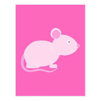 Ratón rosado postal