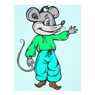 """Ratón ruso folleto 8.5"""" x 11"""""""