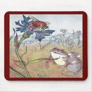 Ratón, sapo y avispón en prado tapetes de raton