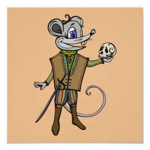 Ratón shakesperiano posters