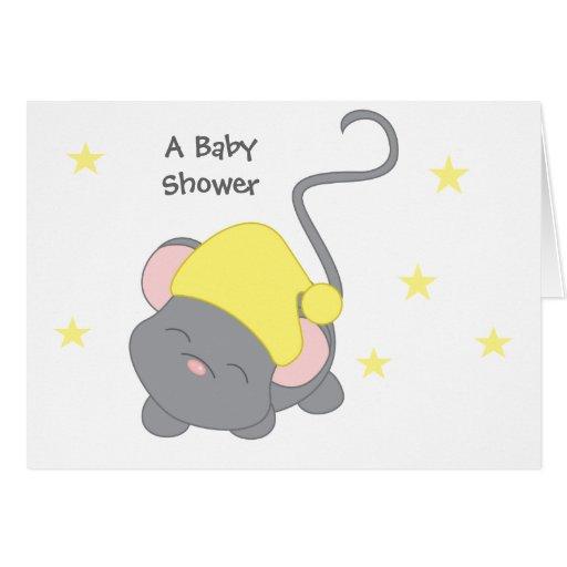 Ratón soñoliento felicitacion