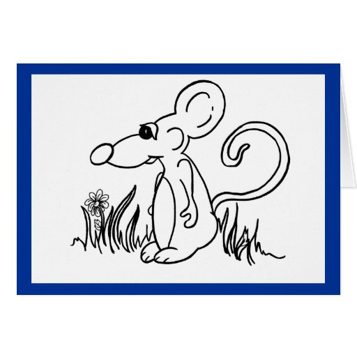 ratón soñoliento tarjeta