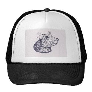 Ratón sonriente gorros bordados