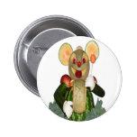 ratón tallado del batería de las bestias pin