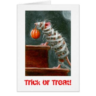 ¡Ratón truco o invitación de la momia Tarjeta de