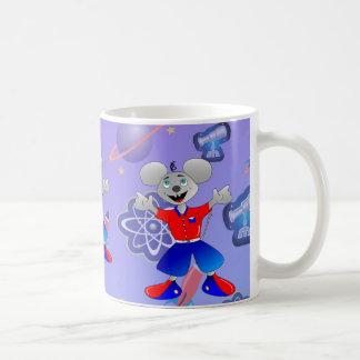 Ratón único del espacio taza de café