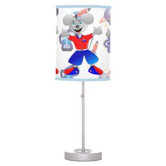 Ratón único y muy fresco del espacio lámpara de escritorio
