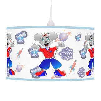 Ratón único y muy fresco del espacio lámpara de techo