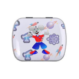Ratón único y muy fresco del espacio latas de caramelos