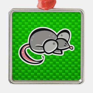 Ratón verde ornamento para arbol de navidad