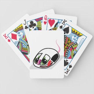 Ratón vivo del ordenador baraja cartas de poker