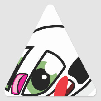 Ratón vivo del ordenador pegatina triangular