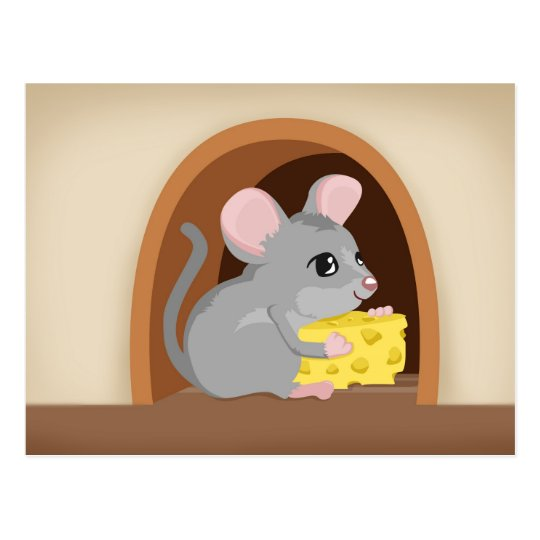 Ratón y agujero del ratón postales