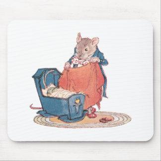 Ratón y cuna de la papá alfombrillas de raton
