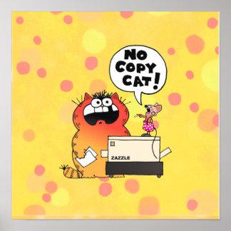 Ratón y gato divertidos divertidos del ratón el |  póster