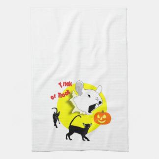Ratón y gatos de la calabaza de Halloween Toalla