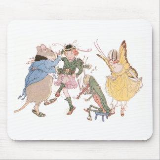 Ratón y hadas del baile tapete de ratón