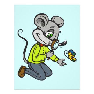 "Ratón y mariposa folleto 8.5"" x 11"""