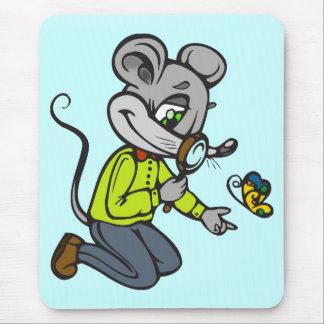 Ratón y mariposa alfombrillas de ratones