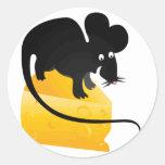 Ratón y pedazo del queso etiquetas