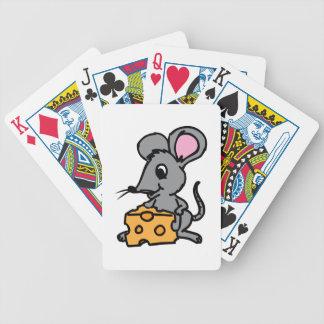 Ratón y queso baraja cartas de poker