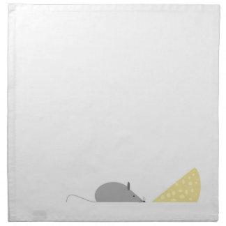 Ratón y queso servilleta de papel
